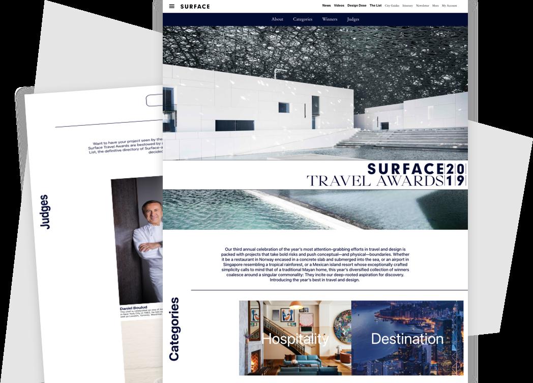 美国《Surface》杂志旅行大奖